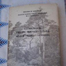 Libros de segunda mano: ESTUDIOS BASICOS PARA UNA ORDENACION INTEGRAL MONTES DE : CERCEDILLA Y NAVACERRADA (MADRID ). Lote 94392090