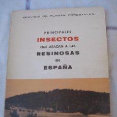 Libros de segunda mano: PRINCIPALES INSECTOS QUE ATACAN A LAS RESINOSAS EN ESPAÑA.. Lote 94412326