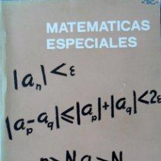 Libros de segunda mano de Ciencias: MATEMÁTICAS ESPECIALES. SIXTO RIOS. MADRID 1973.. Lote 94810099