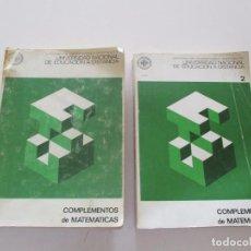 Libros de segunda mano de Ciencias: COMPLEMENTOS DE MATEMÁTICAS 1 Y 2. DOS TOMOS. RM82141. . Lote 95143591
