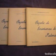 Libros de segunda mano de Ciencias: - PAPELES DE ENSEÑANZA DE LA MATEMATICA (DE LAS REDES 1,2 Y 3) - (UNIVERSIDAD DE VALENCIA, 1979). Lote 95822259