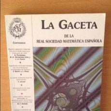 Libros de segunda mano de Ciencias: LA GACETA DE LA REAL SOCIEDAD MATEMATICA ESPAÑOLA - VOL. 6, Nº 3 - (SEPTIEMBRE - DICIEMBRE 2003). Lote 96005691