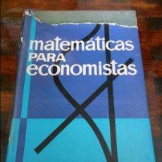 Libros de segunda mano de Ciencias: MATEMATICAS PARA ECONOMISTAS. TARO YAMANE. EDICIONES ARIEL, BARCELONA. 1965- TAPA DURA CON SOBRECUBI. Lote 96010419