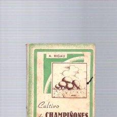 Libros de segunda mano: CULTIVO DE CHAMPIÑONES Y TRUFAS - A. RIGAU - EDITORIAL SINTES 1955. Lote 96020731