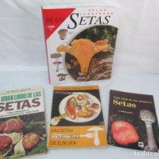 Libros de segunda mano: 4 LIBROS: ATLAS ILUSTARDO DE LAS SETAS. PEDRO LUIS VIANI. R. LOTINA BENGURIA. M. GARCIA ROLLAN. . Lote 96041275