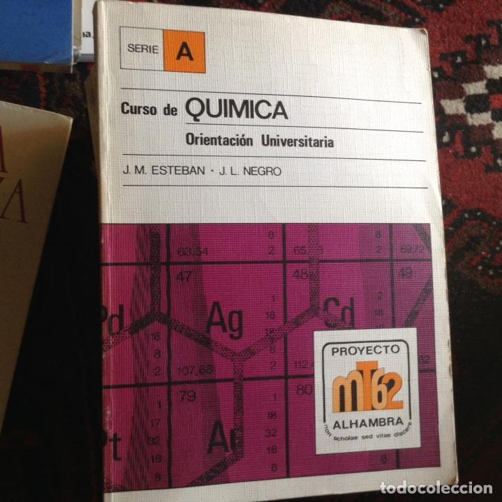 CURSO DE QUÍMICA. J. M. ESTEBAN (Libros de Segunda Mano - Ciencias, Manuales y Oficios - Física, Química y Matemáticas)