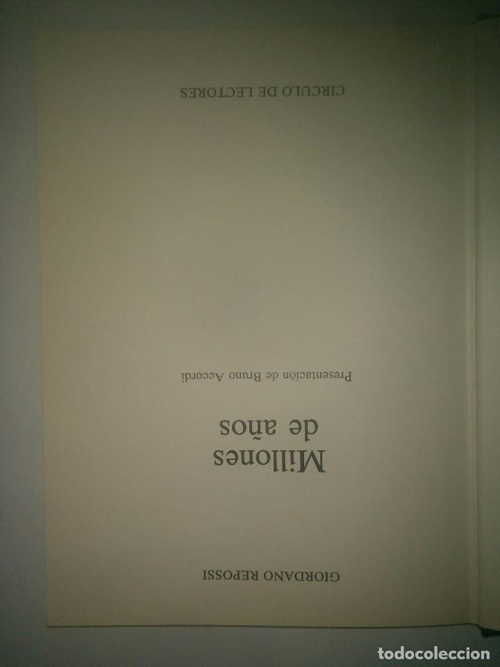 Libros de segunda mano: MILLONES DE AÑOS HISTORIA ILUSTRADA DE LA GEOLOGÍA 1981 GIORDANO REPOSSI 1ª EDICIÓN C.D.L. - Foto 2 - 97351523