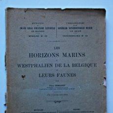 Libros de segunda mano - horizontes marinos y fauna de belgica-libro belga - 97733091