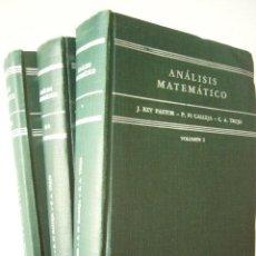 Libros de segunda mano de Ciencias: ANÁLISIS MATEMÁTICO. J. REY PASTOR - P. PÍ CALLEJA - C. A. TREJO. ED. KAPELUSZ, 1959. 4ª ED. AR-. Lote 97932111
