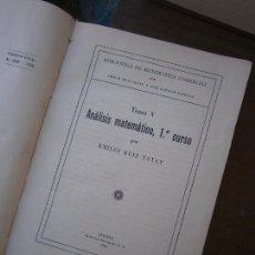 Libros de segunda mano de Ciencias: LIBRO BIBLIOTECA DE MATEMÁTICA COMERCIAL TOMO V 1º CURSO EMILIO RUIZ TATAY 1958 L-15728. Lote 98379607