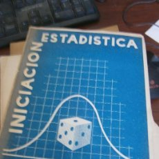 Livres d'occasion: LIBRO INICIACIÓN ESTADÍSTICA SIXTO RIOS 1956 1ª EDICION MADRID L-15799. Lote 98860167