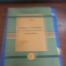 Livros em segunda mão: LIBRO ENIGMAS, CURIOSIDADES Y ENTRETENIMIENTOS MATEMÁTICOS W.M. GRATZ COL. VARIA Nº5 L.14508-934. Lote 98933111