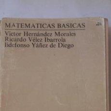 Libros de segunda mano de Ciencias: MATEMÁTICAS BÁSICAS. CURSO DE ACCESO DIRECTO. Lote 99970095