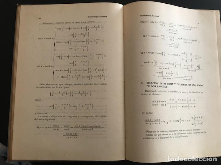 Libros de segunda mano de Ciencias: Trigonometría rectilínea y esférica. I. FOSSI - Foto 2 - 100306022