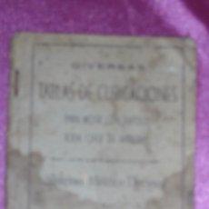 Libros de segunda mano de Ciencias: TABLAS DE CUBICACIONES SISTEMA METRICO DECIMAL PARA MEDIR MADERAS 1953 OVIEDO JERONIMO BEDIA ALONSO. Lote 100481291