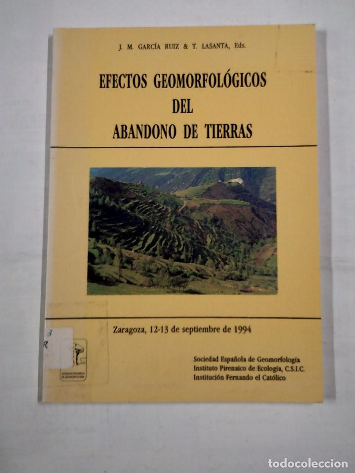 EFECTOS GEOMORFOLOGICOS DEL ABANDONO DE TIERRAS. J.M. GARCIA RUIZ. T. LASANTA EDS. TDK323 (Libros de Segunda Mano - Ciencias, Manuales y Oficios - Paleontología y Geología)