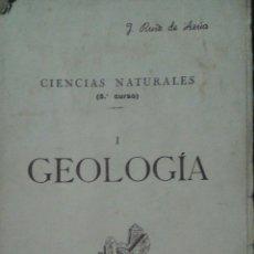 Libros de segunda mano: GEOLOGÍA I. CIENCIAS NATURALES 5° CURSO. J. RUIZ DE AZÚA. OBRA ADAPTADA AL CUESTIONARIO OFICIAL VIGE. Lote 101409866