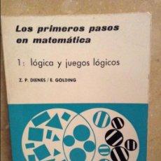 Libros de segunda mano de Ciencias: LOS PRIMEROS PASOS EN MATEMATICA. 1) LOGICA Y JUEGOS LOGICOS (DIENES / GOLDING) EDITORIAL TEIDE. Lote 101794823