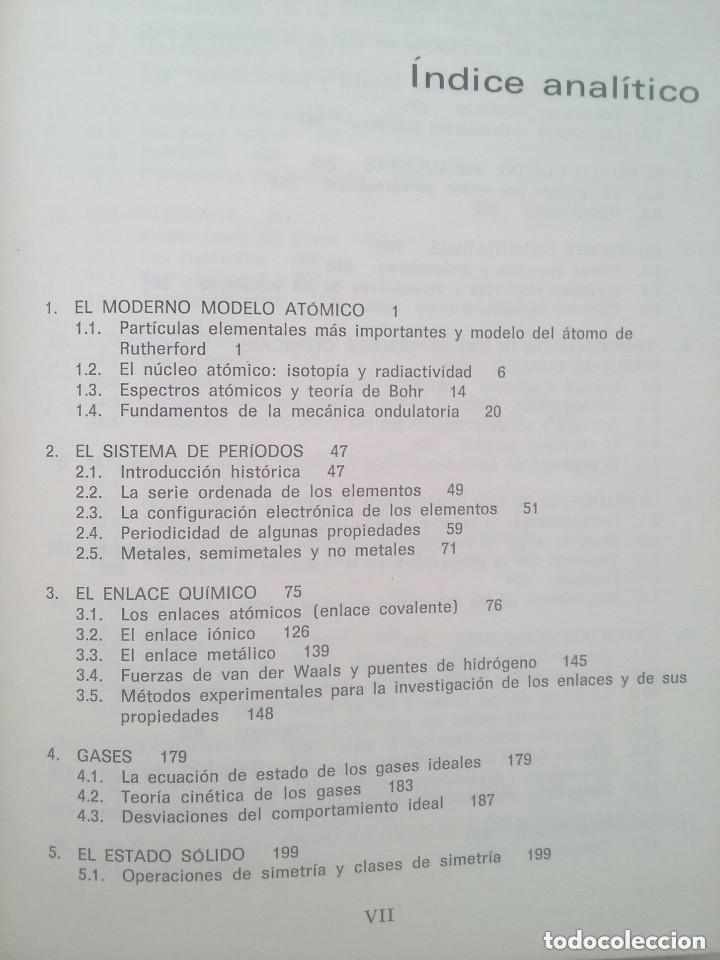 Libros de segunda mano de Ciencias: FUNDAMENTOS DE LA QUÍMICA GENERAL E INORGÁNICA (2 TOMOS) - HANS RUDOLF CHRISTEN - Foto 6 - 101974699