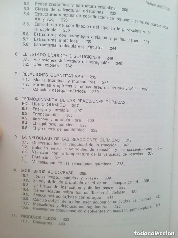 Libros de segunda mano de Ciencias: FUNDAMENTOS DE LA QUÍMICA GENERAL E INORGÁNICA (2 TOMOS) - HANS RUDOLF CHRISTEN - Foto 7 - 101974699