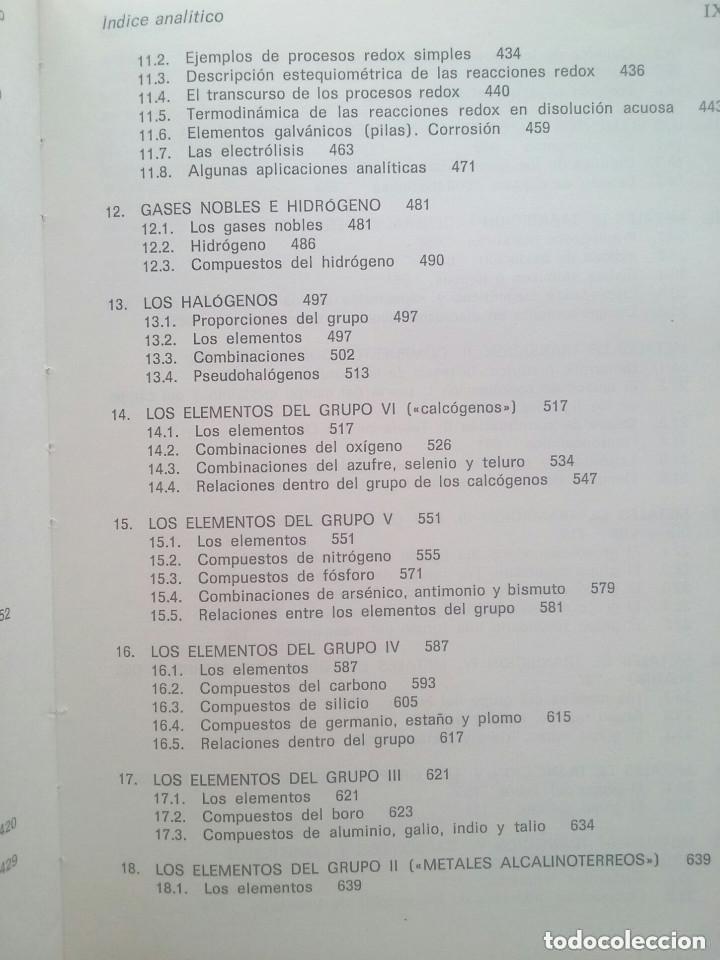 Libros de segunda mano de Ciencias: FUNDAMENTOS DE LA QUÍMICA GENERAL E INORGÁNICA (2 TOMOS) - HANS RUDOLF CHRISTEN - Foto 8 - 101974699