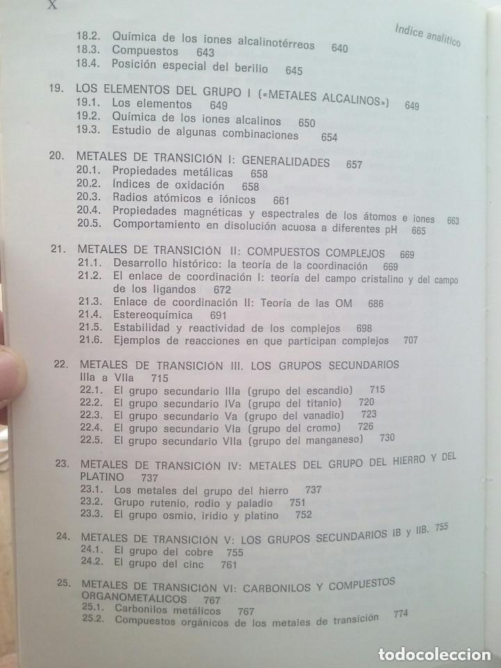 Libros de segunda mano de Ciencias: FUNDAMENTOS DE LA QUÍMICA GENERAL E INORGÁNICA (2 TOMOS) - HANS RUDOLF CHRISTEN - Foto 9 - 101974699