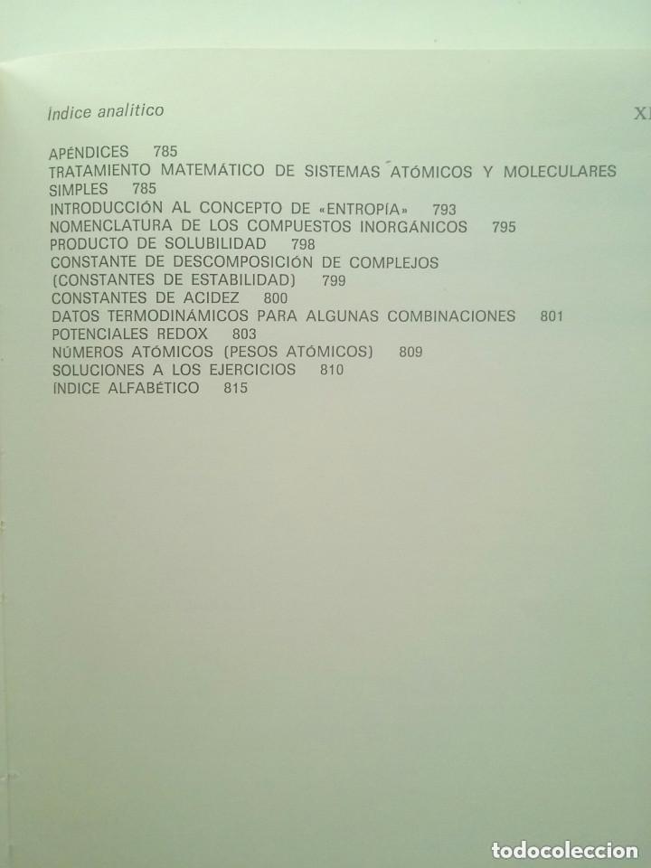 Libros de segunda mano de Ciencias: FUNDAMENTOS DE LA QUÍMICA GENERAL E INORGÁNICA (2 TOMOS) - HANS RUDOLF CHRISTEN - Foto 10 - 101974699