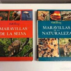 Libros de segunda mano: DOS TOMOS: MARAVILLAS DE LA NATURALEZA Y DE LA SELVA. WALT DISNEY. EDICIONES GAISA, 1967, 1968. B.E.. Lote 102490203