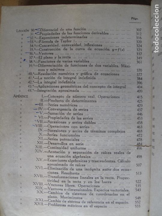Libros de segunda mano de Ciencias: COMPLEMENTOS DE MATEMÁTICAS.- SIXTO RIOS.- EDIC. DE AUTOR.- 1960.- - Foto 4 - 103340567