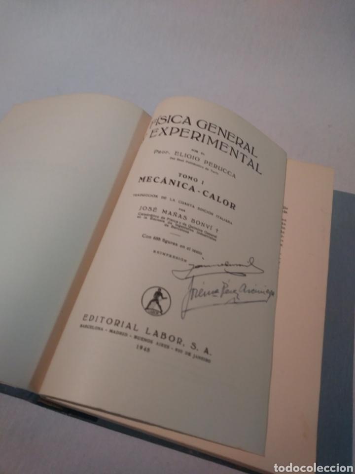 Libros de segunda mano de Ciencias: FÍSICA GENERAL Y EXPERIMENTAL TOMO I MECÁNICA - CALOR - Foto 4 - 103483899