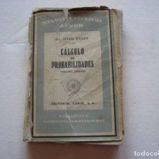 Libros de segunda mano de Ciencias: MANUALES TECNICOS LABOR (CALCULO DE PROBABILIDADES). Lote 103573379