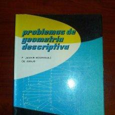 Libros de segunda mano de Ciencias: RODRÍGUEZ DE ABAJO, F. JAVIER. PROBLEMAS DE GEOMETRÍA DESCRIPTIVA. Lote 103663259