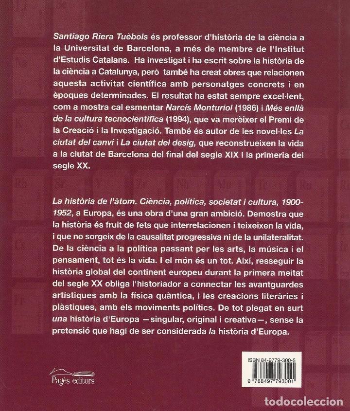 Libros de segunda mano de Ciencias: LA HISTÒRIA DE L'ÀTOM, Santiago Riera i Tuèbols - Foto 2 - 103894319