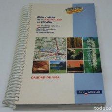Libros de segunda mano: GUIA Y MAPA DE LA NATURALEZA EN ESPAÑA ANAYA 1999. Lote 104240479