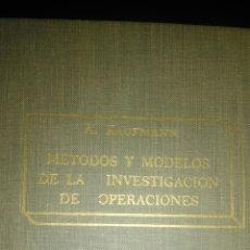 Libros de segunda mano de Ciencias: MÉTODOS Y MODELOS DE LA INVESTIGACIÓN DE OPERACIONES. A. KAUFFMANN. CECSA. SEGUNDA EDICIÓN 1962. CAR. Lote 104893967