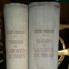 Libros de segunda mano: TRATADO DE LABOREO DE MINAS. Lote 105439967