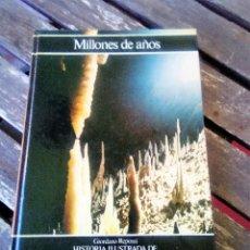 Libros de segunda mano: MILLONES DE AÑOS. GIORDANO REPOSSI. HISTORIA ILUSTRADA DE LA GEOLOGÍA. 1981. Lote 105708639