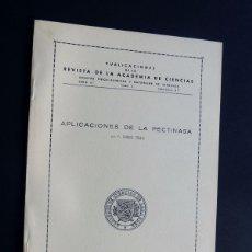 Libros de segunda mano de Ciencias: APLICACIONES DE LA PECTINASA / F. DUESO TELLO / ACADEMIA CIENCIAS - ZARAGOZA 1955. Lote 105997843