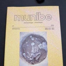 Libros de segunda mano: ANTROPOLOGIA Y ARQUEOLOGIA - MUNIBE N° 67 - TDK309. Lote 107543403