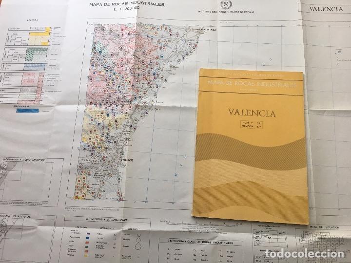 Libros de segunda mano: Mapa de rocas industriales E. 1:200.000: Valencia. Hoja y memoria 56, 8/7 Instituto geológico 1973 - Foto 2 - 107707723