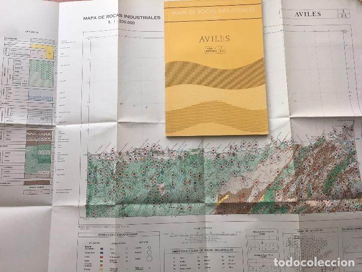 MAPA DE ROCAS INDUSTRIALES E. 1:200.000: AVILES. HOJA Y MEMORIA 2, 3/1 INSTITUTO GEOLÓGICO 1973 (Libros de Segunda Mano - Ciencias, Manuales y Oficios - Paleontología y Geología)