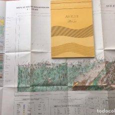 Libros de segunda mano: MAPA DE ROCAS INDUSTRIALES E. 1:200.000: AVILES. HOJA Y MEMORIA 2, 3/1 INSTITUTO GEOLÓGICO 1973. Lote 107708015