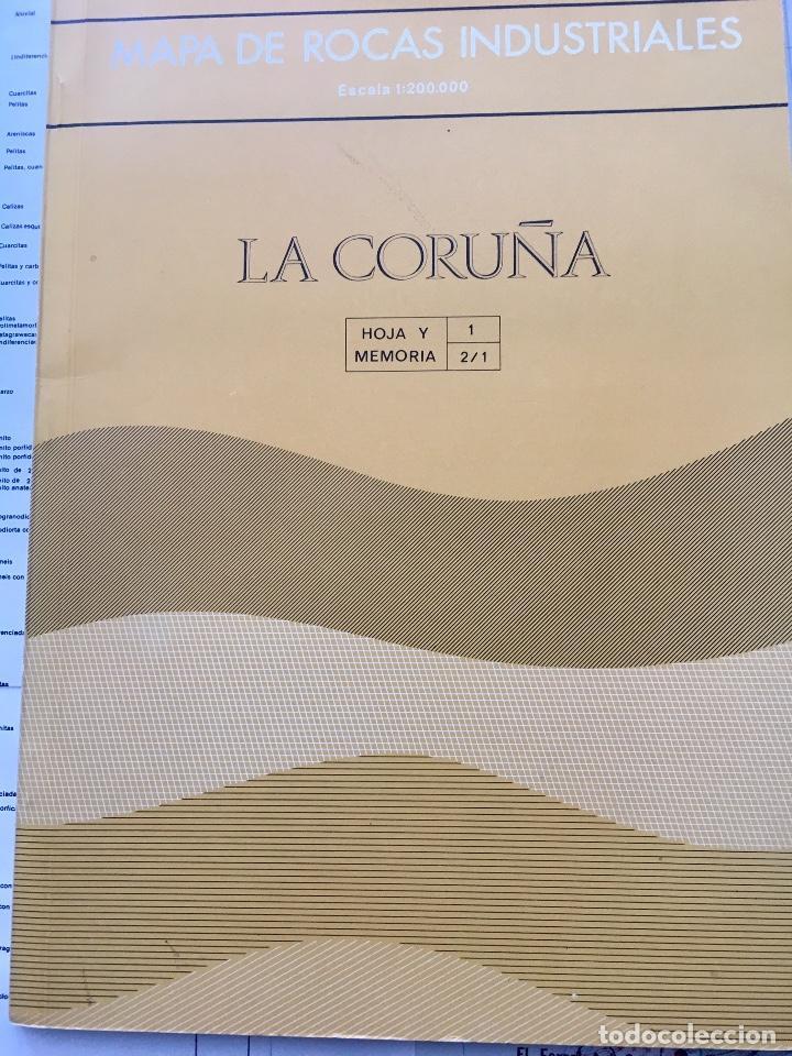 Libros de segunda mano: MAPA DE ROCAS INDUSTRIALES E. 1:200.000: La Coruña. Hoja 1 memoria 2/1 Instituto geológico 1973 - Foto 2 - 107708155