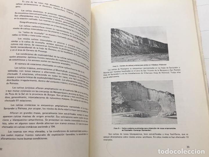 Libros de segunda mano: MAPA DE ROCAS INDUSTRIALES E. 1:200.000: SANTANDER REINOSA . Hoja 4-11 memoria 5/1 5/2 1973 - Foto 6 - 107708443