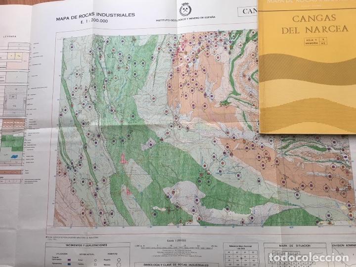 Libros de segunda mano: MAPA DE ROCAS INDUSTRIALES E. 1:200.000: CANGAS DE NARCEA . Hoja 9 memoria 3/2 - Foto 2 - 107708703