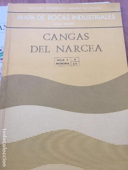 MAPA DE ROCAS INDUSTRIALES E. 1:200.000: CANGAS DE NARCEA . HOJA 9 MEMORIA 3/2 (Libros de Segunda Mano - Ciencias, Manuales y Oficios - Paleontología y Geología)