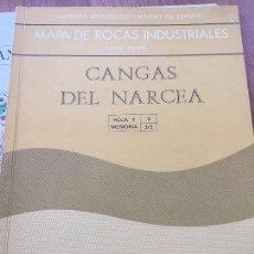 Libros de segunda mano: MAPA DE ROCAS INDUSTRIALES E. 1:200.000: CANGAS DE NARCEA . HOJA 9 MEMORIA 3/2. Lote 107708703