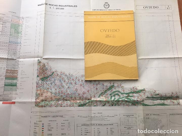 MAPA DE ROCAS INDUSTRIALES E. 1:200.000: OVIEDO . HOJA 3 MEMORIA 4/1 INSTITUTO GEOLOGICO 1973 IGME (Libros de Segunda Mano - Ciencias, Manuales y Oficios - Paleontología y Geología)