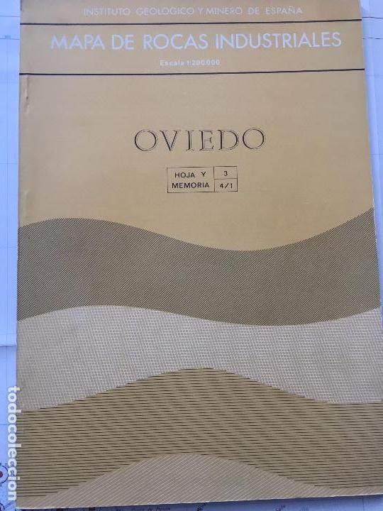 Libros de segunda mano: MAPA DE ROCAS INDUSTRIALES E. 1:200.000: OVIEDO . Hoja 3 memoria 4/1 INSTITUTO GEOLOGICO 1973 IGME - Foto 2 - 107708831