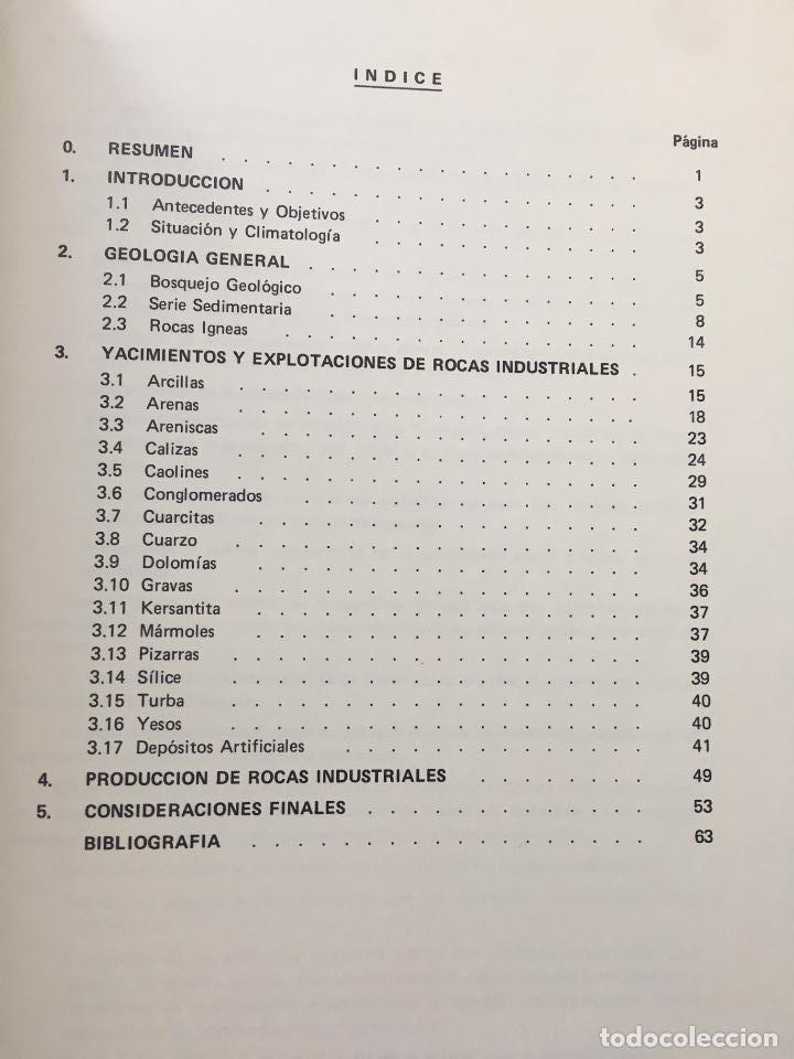 Libros de segunda mano: MAPA DE ROCAS INDUSTRIALES E. 1:200.000: OVIEDO . Hoja 3 memoria 4/1 INSTITUTO GEOLOGICO 1973 IGME - Foto 3 - 107708831